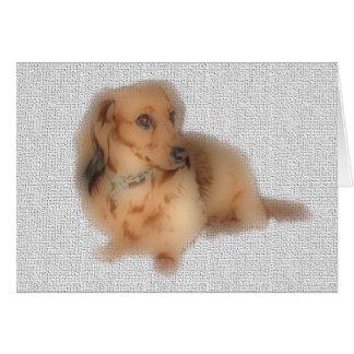 LH roja del dachshund Tarjeta De Felicitación