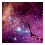 LHA 120-N11 Star Formation Hubble Space Photo Poster
