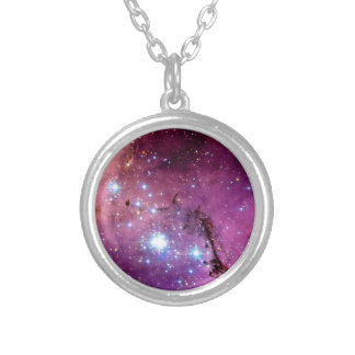 LHA 120-N11 Star Formation Hubble Space Photo Silver Plated Necklace