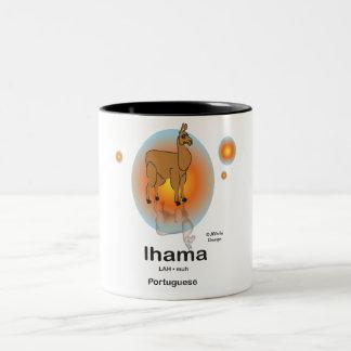 Lhama, in the Portuguese language Two-Tone Coffee Mug
