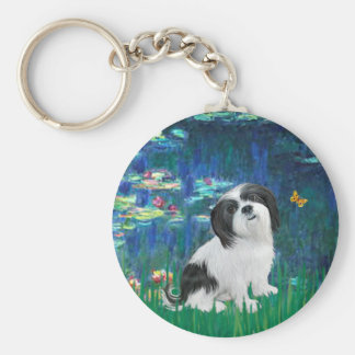 Lhasa Apso 2 - Lilies 5 Keychain