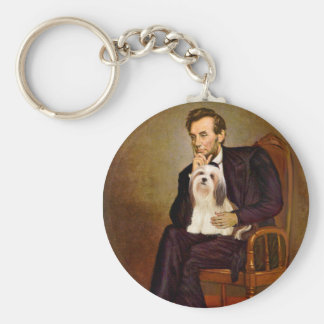 Lhasa Apso 4 - Lincoln Keychain