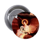 Lhasa Apso 4 - Seated Angel Pinback Buttons