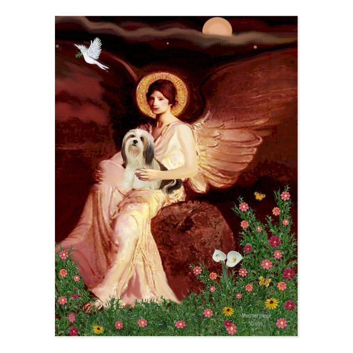 Lhasa Apso 4 - Seated Angel Postcard
