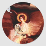 Lhasa Apso 4 - Seated Angel Sticker