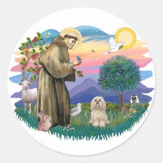 Lhasa Apso (#9) Classic Round Sticker