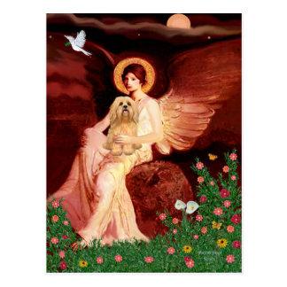 Lhasa Apso 9 - Seated Angel Postcard