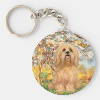 Lhasa Apso 9 - Spring Keychain