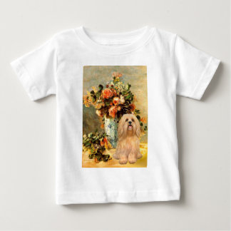 Lhasa Apso 9 - Vase of Flowers Baby T-Shirt