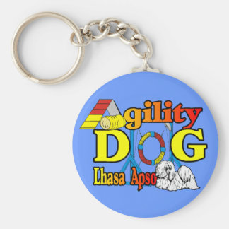 Lhasa Apso Agility Gifts Keychain