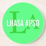 Lhasa Apso Breed Monogram Coaster