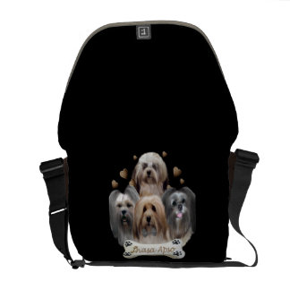 Lhasa Apso Can't Have Just One Purse Courier Bag
