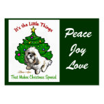 Lhasa Apso Christmas Gifts Business Card Templates