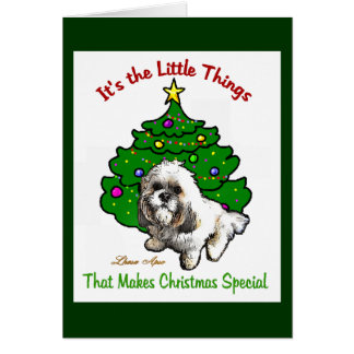 Lhasa Apso Christmas Gifts Card