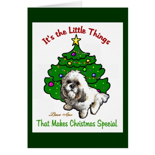 Lhasa Apso Christmas Gifts Card