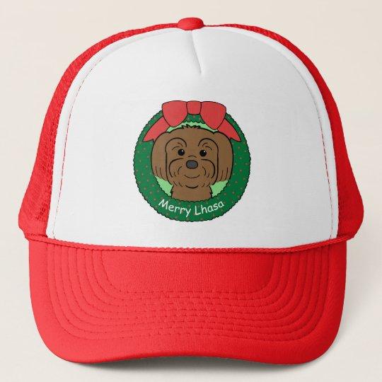 Lhasa Apso Christmas Trucker Hat