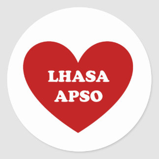 Lhasa Apso Classic Round Sticker