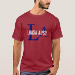 Lhasa Apso Dog Breed/Dog Lovers Initials Shirt