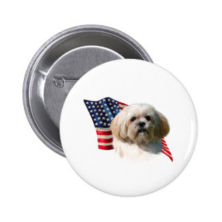 Lhasa Apso Flag Buttons