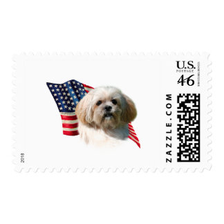 Lhasa Apso Flag Stamps