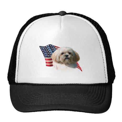Lhasa Apso Flag Trucker Hat