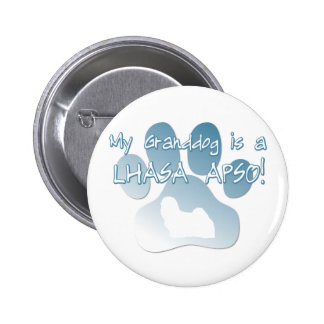 Lhasa Apso Granddog Pinback Button