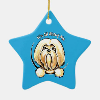 Lhasa Apso IAAM Ceramic Ornament