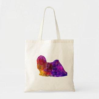 Lhasa Apso in watercolor 2 Tote Bag