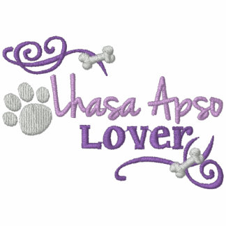 Lhasa Apso Lover Embroidered Hoody