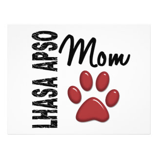 Lhasa Apso Mom 2 Custom Flyer