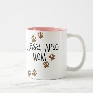 Lhasa Apso Mom Two-Tone Coffee Mug