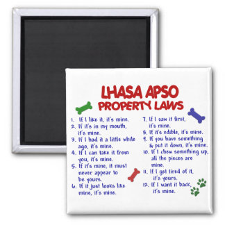 LHASA APSO Property Laws 2 2 Inch Square Magnet