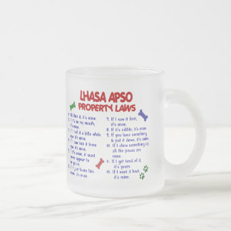 LHASA APSO Property Laws 2 Frosted Glass Coffee Mug