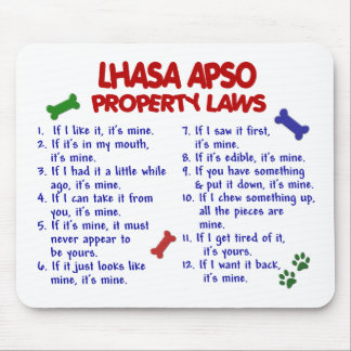 LHASA APSO Property Laws 2 Mouse Pad