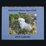 """Lhasa Apso Rescue 2018 Calendar<br><div class=""""desc"""">A beautiful calendar made from the pictures of beloved Lhasas sent to us by Lhasa Lovers everywhere! Profits from the sale of this calendar will go to save more Lhasa lives.</div>"""