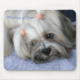 "Lhasa Apso Rugged Little ""Bark Lion Dog"" Mousepad"