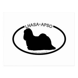 Lhasa Apso Silhouette Black Postcard