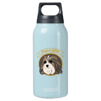 Lhasa Apso Thermos Water Bottle