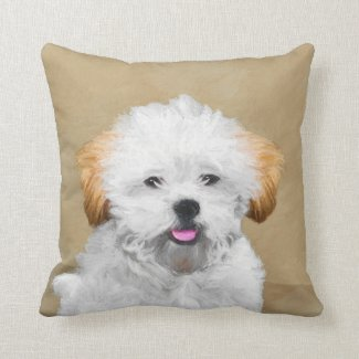 Lhasa Apso Throw Pillow