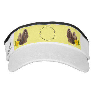 Lhasa Apso with Yellow Roses Visor