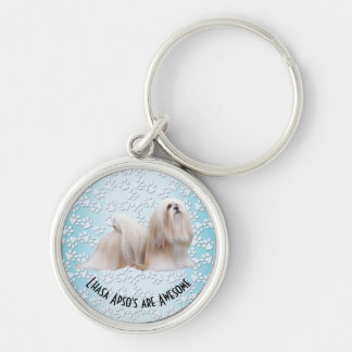 Lhasa Apso's are Awesome Keychain