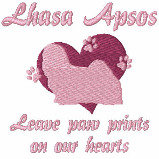 Lhasa Apsos Leave Paw Prints