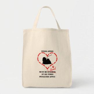 Lhasa Apsos Must Be Loved Tote Bag