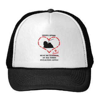Lhasa Apsos Must Be Loved Trucker Hat