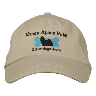 Lhasa Apsos Rule Embroidered Hat