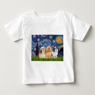 Lhasa Apsos (three) - Starry Night Baby T-Shirt