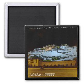 Lhasa, Potala Palace - Tibet 2 (Fridge Magnet) 2 Inch Square Magnet