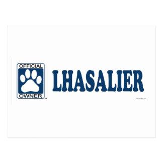 Lhasalier Blue Postcard