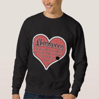 Lhasapoo Paw Prints Dog Humor Sweatshirt