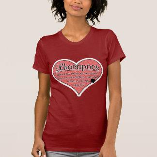 Lhasapoo Paw Prints Dog Humor T-Shirt